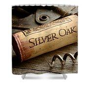 Silver On Silver Shower Curtain by Jon Neidert