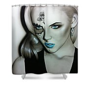 'silver Soul' Shower Curtain by Christian Chapman Art
