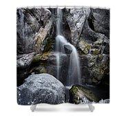 Silver Waterfall Shower Curtain by Carlos Caetano