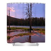 Simple Beauty Of Yellowstone Shower Curtain by John Malone