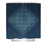 Sine Cosine And Tangent Waves Shower Curtain by Jason Padgett