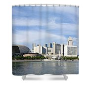 Singapore Waterfront Shower Curtain by Mountain Dreams