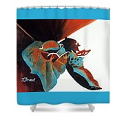 Singing Frog Duet 2 Shower Curtain by Kathy Braud