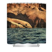 Siren Rocks II Shower Curtain by Taylan Apukovska