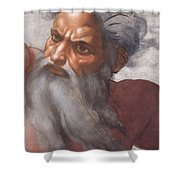 Sistine Chapel Ceiling Creation Of The Sun And Moon Shower Curtain by Michelangelo Buonarroti