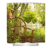 Sit For A While Shower Curtain by Margie Hurwich