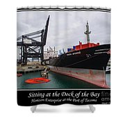 Sitting At The Dock Of The Bay Shower Curtain by Tikvah's Hope