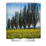 Skagit Trees Shower Curtain by Inge Johnsson