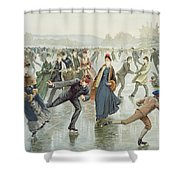 Skating Shower Curtain by Harry Sandham