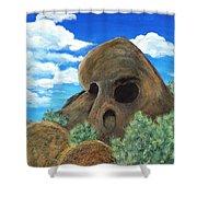 Skull Rock Shower Curtain by Anastasiya Malakhova