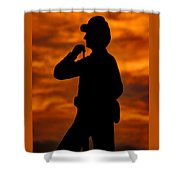 Sky Fire - Flames Of Battle 7th Pennsylvania Reserve Volunteer Infantry-a1 Sunset Antietam Shower Curtain by Michael Mazaika