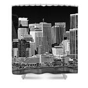 Skyline San Francisco Shower Curtain by Ralf Kaiser