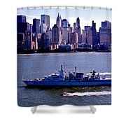 Skyline Steaming Shower Curtain by Benjamin Yeager