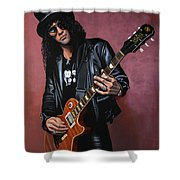 Slash Shower Curtain by Paul Meijering
