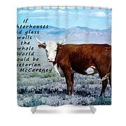 Slaughterhouses Shower Curtain by Janice Rae Pariza