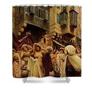 Slave Auction Shower Curtain by Fabbio Fabbi