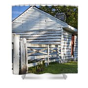 Slave Huts On Southern Farm Shower Curtain by Brian Jannsen