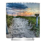 Sleeping Bear National Lakeshore Sunset Shower Curtain by Sebastian Musial