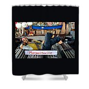 Sleeping Pirate Shower Curtain by Carla Parris