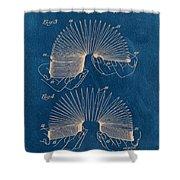 Slinky Toy Blueprint Shower Curtain by Edward Fielding