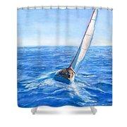 Slip Away Shower Curtain by Jack Skinner