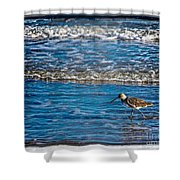 Small Waves Shower Curtain by Perry Webster