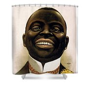 Smiling African American Circa 1900 Shower Curtain by Aged Pixel