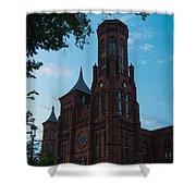 Smithsonian Castle Dawn Shower Curtain by Steve Gadomski