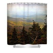 Smokey Mountain High Shower Curtain by Karen Wiles