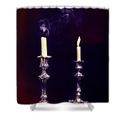 Smoking Candle Shower Curtain by Amanda And Christopher Elwell