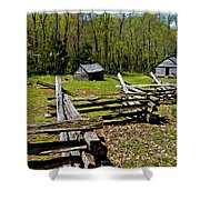Smoky Mountain Cabins Shower Curtain by Paul W Faust -  Impressions of Light