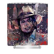 Smooth Criminal Shower Curtain by MB Art factory
