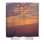 Smooth Sunset Shower Curtain by Leticia Latocki
