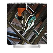 Sneaker Shower Curtain by Sarah Loft