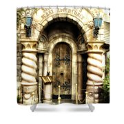 Snow Whites Scary Adventures Fantasyland Disneyland Shower Curtain by Thomas Woolworth