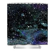 Snowfall At Night Shower Curtain by Barbara Griffin