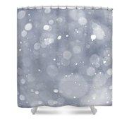 Snowfall Background Shower Curtain by Elena Elisseeva