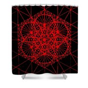 Snowflake Shape Comes From Frequency And Mass Shower Curtain by Jason Padgett