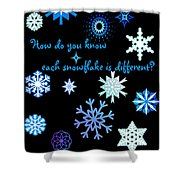 Snowflakes 2 Shower Curtain by Methune Hively