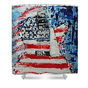 So Proudly We Hail Shower Curtain by Dan Campbell