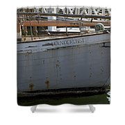 S.o. Wanderlust Shower Curtain by Amanda Barcon