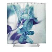 Soft Blues Shower Curtain by Priska Wettstein