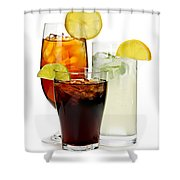 Soft Drinks Shower Curtain by Elena Elisseeva