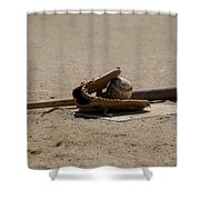 Softball Shower Curtain by Bill Cannon