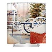 Softly Christmas Snow Shower Curtain by Kip DeVore
