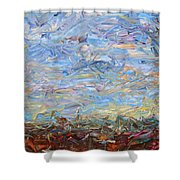 Soil Turmoil Shower Curtain by James W Johnson