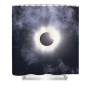 Solar Eclipse August 11 1999 Shower Curtain by Konrad Wothe
