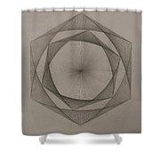 Solar Spiraling Shower Curtain by Jason Padgett
