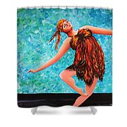 Solo Performance Shower Curtain by Kaye Miller-Dewing