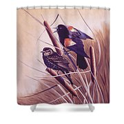 Song Of The Marsh Shower Curtain by Richard De Wolfe